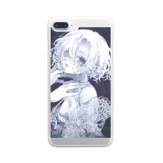 navy blue Clear smartphone cases