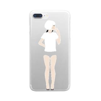 【濃色推奨】ブルマ女子 Clear smartphone cases