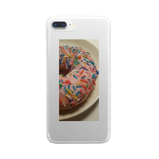 カラフルドーナツ Clear smartphone cases