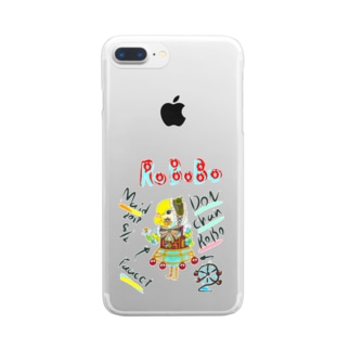 ROBOBO🤖「どんちゃんロボ」 Clear smartphone cases