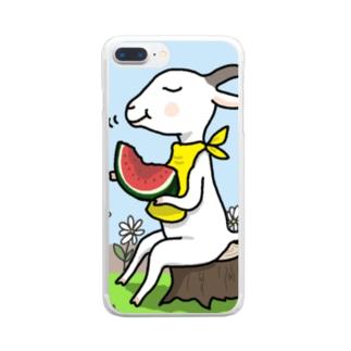 山羊さんの夏休み Clear smartphone cases
