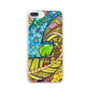 まりもふ-心の友- Clear smartphone cases