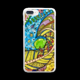 Sarry/サリーのまりもふ-心の友- Clear smartphone cases