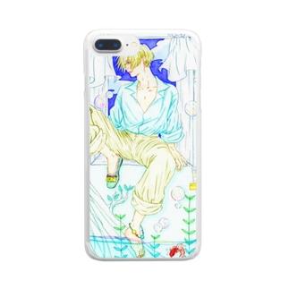 夏の少年 Clear smartphone cases