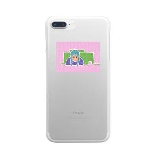 うわばみガール Clear smartphone cases