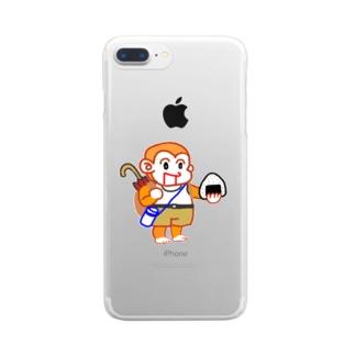 モンチーノ!おにぎり Clear smartphone cases