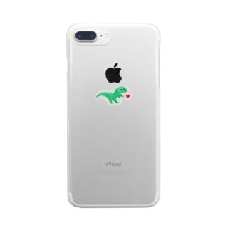 恐竜くん Clear smartphone cases