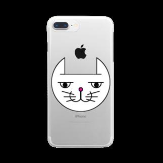 ヒロさんのグッズのネコだお(カラー) Clear smartphone cases