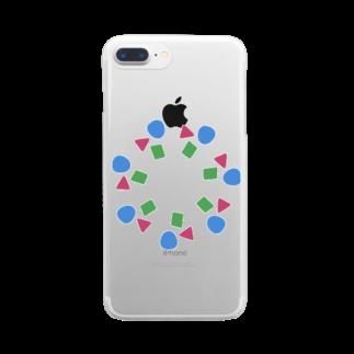fuuku-sのしかくまるさんかく Clear smartphone cases