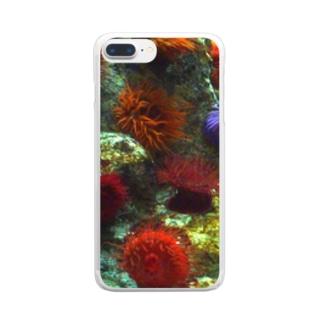 イソギンチャク Clear smartphone cases