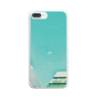 ncncccncのひこうき Clear smartphone cases