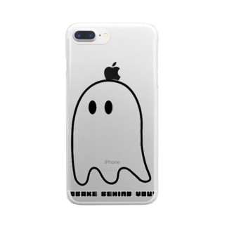 OBAKE BEHIND YOU Clear smartphone cases