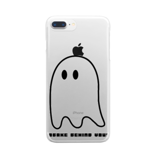 MymmyのOBAKE BEHIND YOU Clear smartphone cases