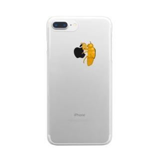 セミの抜け殻クン Clear smartphone cases