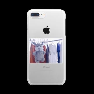 ncncccncの干されこた Clear smartphone cases