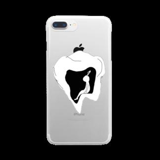 みあしろ。のまつ。 Clear smartphone cases