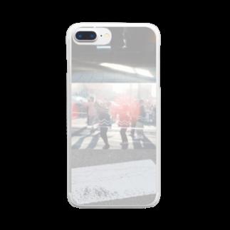 木口さんの夕陽と夏祭り Clear smartphone cases