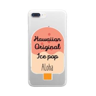 アイスバー(アロハ) Clear smartphone cases