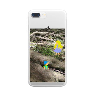 おてて商店のかくれんぼ Clear smartphone cases