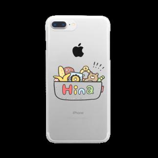 ゆゆ丸のひな◎ Clear smartphone cases