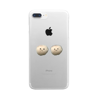 モサモサピーポーー Clear smartphone cases