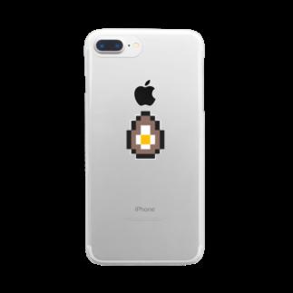 カットボスの煮卵 Clear smartphone cases
