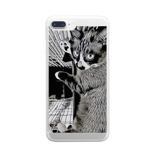 ちょびひげふぁんくらぶ Clear smartphone cases