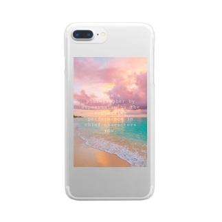 ビーチ Clear smartphone cases