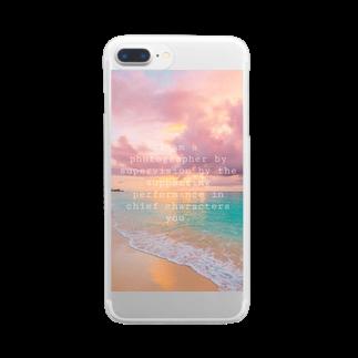 ゆっぴーショップのビーチ Clear smartphone cases