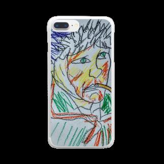 ✈オノウエ コウキのゴッホの自画像? Clear smartphone cases