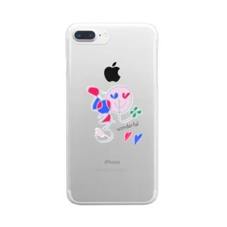 wonderfulなハニーさん Clear smartphone cases