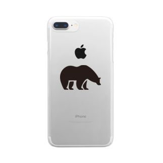 BASE-CAMPのBASE BEAR 01 Clear smartphone cases