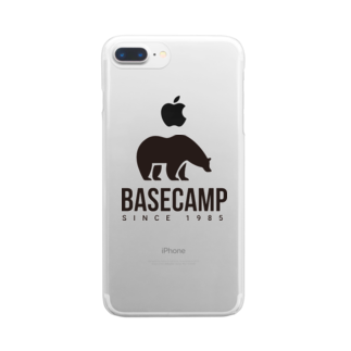 BASE-CAMPのBASE BEAR 02 Clear smartphone cases