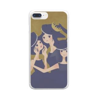 おサメ姫の森〜3sharks Clear smartphone cases