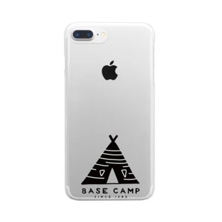 BASE-CAMPのBASE テント 01 Clear smartphone cases