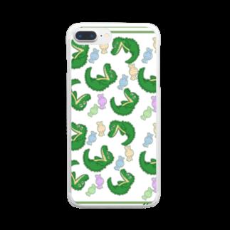 ゆこゆーこ工房のペロワニくん Clear smartphone cases