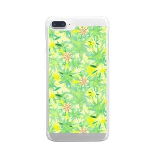オリーブきらきら Clear smartphone cases