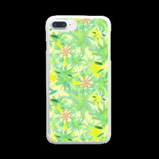 KOKaKのオリーブきらきら Clear smartphone cases
