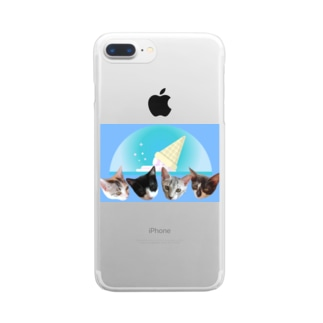 No.7 フルーツ4兄弟♪ Clear smartphone cases