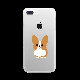 びすけのコーギー  Clear smartphone cases