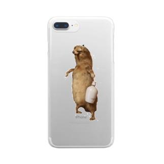 酒好き剥ちゃん Clear smartphone cases