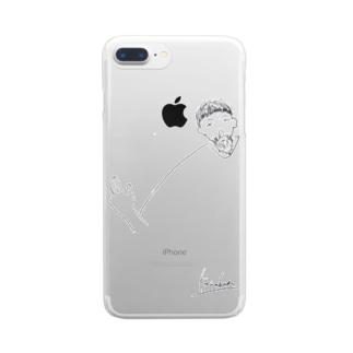幸男くんの肩幅 Clear smartphone cases