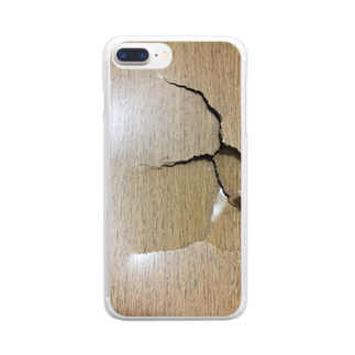 雷鳴 轟のbroken 壁 Clear smartphone cases