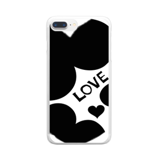 Naughty clown .のLOVE LOVE LOVE Clear smartphone cases