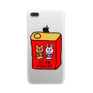 アニマルドロップス Clear smartphone cases