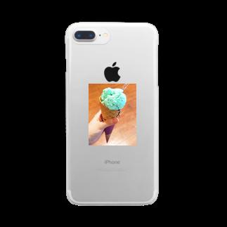 misakiのアイスクリーム Clear smartphone cases