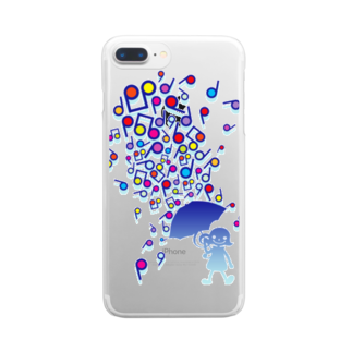 AURA_HYSTERICAのSingin' in the Rain Clear smartphone cases