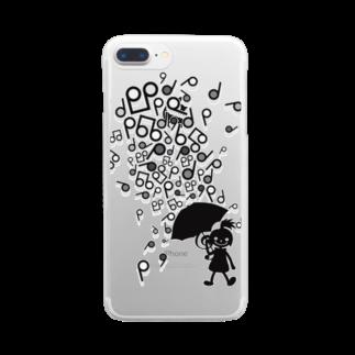 AURA_HYSTERICAのSingin' in the Rain Clear smartphone cases