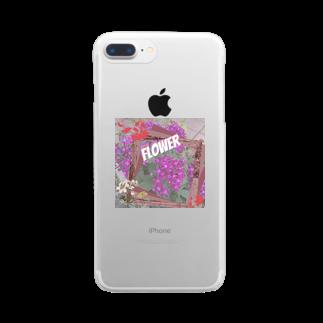 あいあいのflower Clear smartphone cases