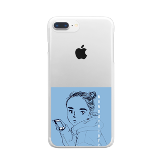 sugar.miniのMonday vibes Clear smartphone cases